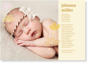 Geburtskarten, Transparente Blumen