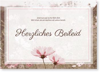 Beileidskarten, Blumenwiese