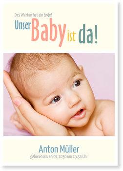 Geburtskarten, Unser Baby ist da
