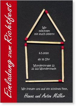 einladung richtfest gratis musterkarten und versand. Black Bedroom Furniture Sets. Home Design Ideas