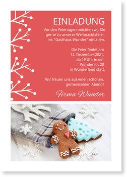 Einladung Weihnachtsfeier, Winterstrauch