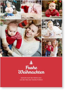 Weihnachtskarten Baby, Collage