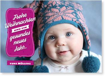 Weihnachtskarten Baby, Modernes Fest