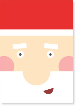 Weihnachtskarten Baby, Weihnachtsmann Selfie