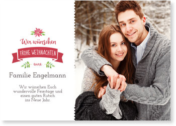 Aktuelle Weihnachtskarten, Weihnachtlicher Banner