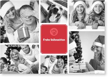 Aktuelle Weihnachtskarten, weihnachten bildreich kleiner fuchs rot