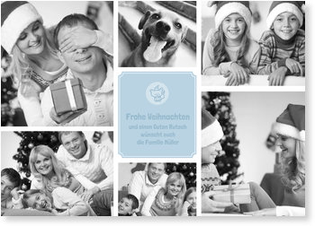 Aktuelle Weihnachtskarten, Bildreich kleiner Fuchs