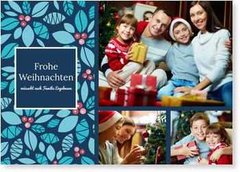 Aktuelle Weihnachtskarten, Blättermuster
