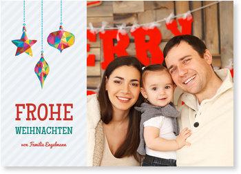 Aktuelle Weihnachtskarten, Bunter Baumschmuck
