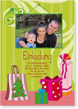 Einladung Weihnachtsfeier, Weihnachtsgeschenke
