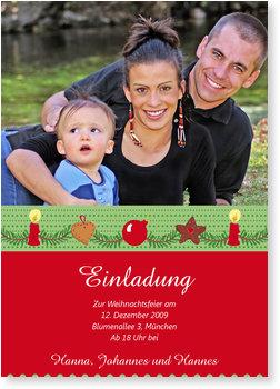 Einladung Weihnachtsfeier, Weihnachtsgirlande