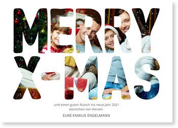 Aktuelle Weihnachtskarten, Fotoschrift
