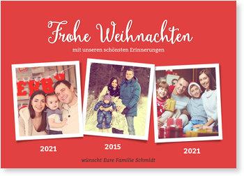 Aktuelle Weihnachtskarten, Fotostory