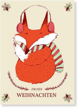 Aktuelle Weihnachtskarten, Winterfuchs
