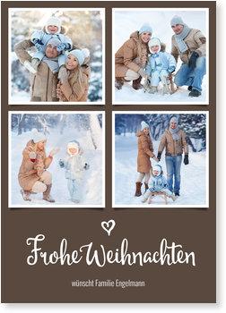 Aktuelle Weihnachtskarten, Kleines Herz in Braun