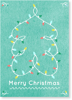 Aktuelle Weihnachtskarten, Lichterbaum