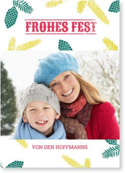 Aktuelle Weihnachtskarten, Pinienstempel