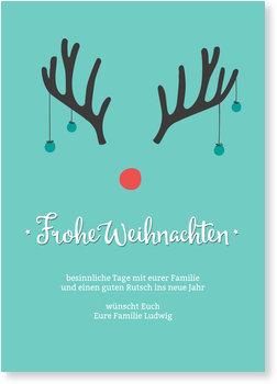 Aktuelle Weihnachtskarten, Rudolph
