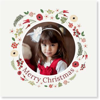 Aktuelle Weihnachtskarten, Rundes Bildfeld
