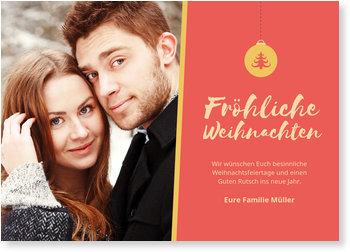 Aktuelle Weihnachtskarten, Tannenbaumkugel
