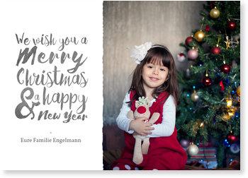 Aktuelle Weihnachtskarten, Weihnachtliche Schrift