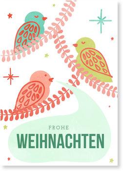 Aktuelle Weihnachtskarten, Vogelgezwitscher
