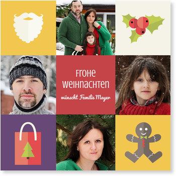 Aktuelle Weihnachtskarten, Weihnachtsicons