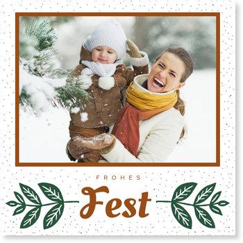 Aktuelle Weihnachtskarten, Winterzeit