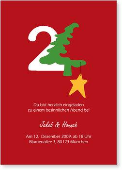 Einladung Weihnachtsfeier, 24.
