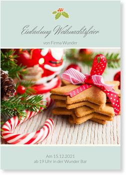 Einladung Weihnachtsfeier, Stechpalme