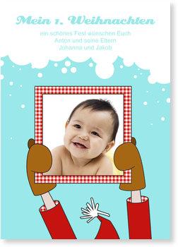 Weihnachtskarten Baby, Mein erstes Weihnachtsfoto