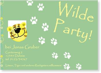 Einladungskarten Kindergeburtstag, Wilde Party für Jungen