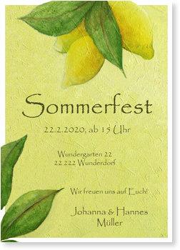 Einladungskarten Sommerfest, Zitronen