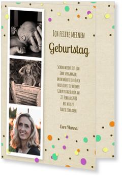 Einladungskarten 60. Geburtstag, Konfetti