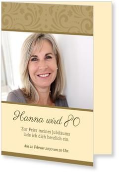 Elegante Zierde Einladungskarten 80 Geburtstag