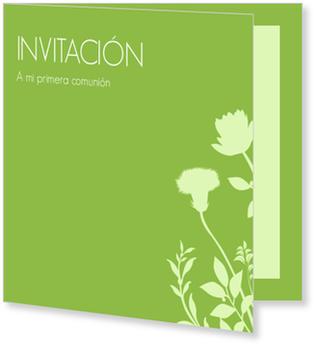 Invitaciones de comunión, Florecita