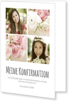Einladungskarten Konfirmation, Schlichte Eleganz
