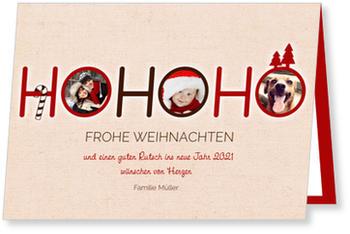 Weihnachtskarten Mit Bild.Hohoho