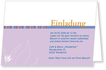 Einladungskarten geschäftlich, Einladung - Lila