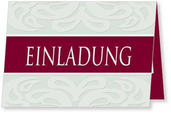 Einladungskarten geschäftlich, Jubiläum - Weinrot