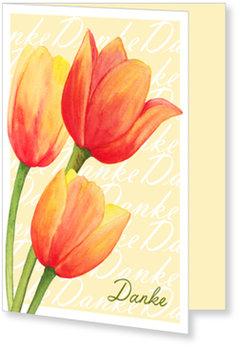 Allgemeine Dankeskarten, Tulpen in Aquarell