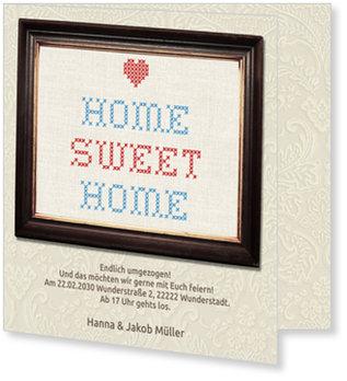 Einladungskarten Einweihung, Home Sweet Home