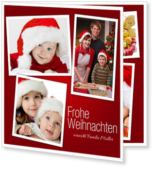 Aktuelle Weihnachtskarten, Weihnachtscollage