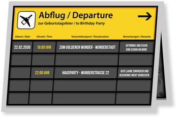 Einladungskarten Geburtstag, Abflug