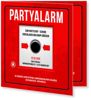Einladungskarten Geburtstag, Partyalarm