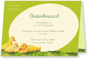 Osterkarten selbst gestalten, Kükentrio