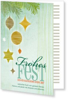 Aktuelle Weihnachtskarten, Geschmückte Zweige
