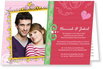 Einladungskarten Hochzeit, Herzlich eingeladen!