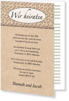 Einladungskarten Hochzeit, Hochzeitseinladung: Ornamente