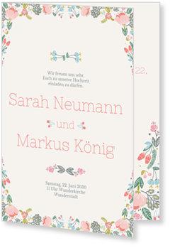 Einladungskarten Hochzeit, Bouquet